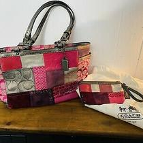 Coach Tote and Wristlet Dust Bag Patchwork Leather Purse Carryall Handbag  Photo