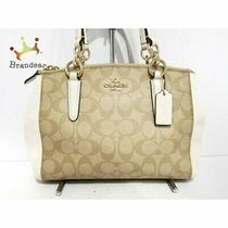 Coach Tote Bag Outlet Mini Christie Carryall F58290 Beige White Arrival Photo