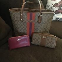 Coach Tote Cosmetic Bag and Wallet Photo