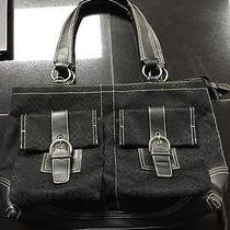 Coach Tote/shoulder Bag. Black. No. 00133. Nylon/ Leather. Great Condition. Photo