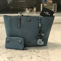 Coach Tote W/ Matching Wallet and Charm Photo