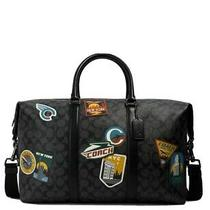 Coach Trekker Bag Signature Canvas Travel With Patches 2329 Photo