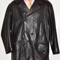 Coach Trench Leather Coach Jacket Soft Vintage Look Medium Men Photo
