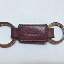 Coach Trigger Snap Valet Keychain Key Ring Purple Photo