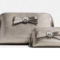 Coach Turnlock Bow Cosmetic Case Set in Coach Gift Box Photo