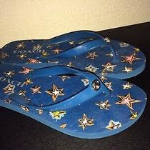 Coach Turquoise Youre the Star Thong Sandals-Size 8 Photo