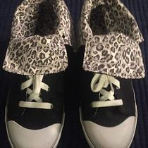 Coach Unique Style Leopard Print High Top/ Fold Over Sneakers Women's Size 9.5 Photo
