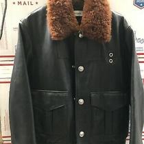Coach Usa Black Aviator Shearling Leather Motorcycle Jacket Noir Moto Pilot Cost Photo