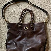 Coach Used Authentic Dark Brown Leather Coach Handbag Photo