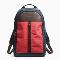 Coach Varick Nylon Colorblock Backpack Style F70835 Sa/red/navy Photo