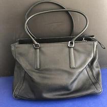 Coach Vintage Black Brief Case Messenger Laptop Leather Bag Briefcase Women Men Photo