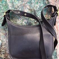 Coach Vintage Black Leather Crossbody/shoulder Bag Photo