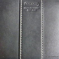 Coach Vintage Black Leather Frame Wallet Photo