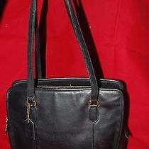 Coach Vintage Black Leather Handbag  9872 Photo