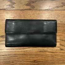 Coach Vintage Black Leather Organizer Checkbook Clutch Purse Wallet Photo