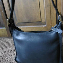 Coach Vintage Black Shoulder Bag- in Excellent Condition-Awesome Photo