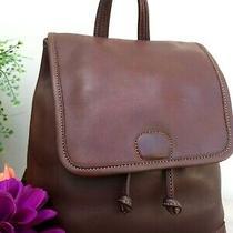 Coach Vintage Brown Leather Backpack Purse Handbag Shoulder Bag  Photo