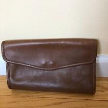 Coach Vintage Brown Leather Envelope Clutch Nyc.  Authentic. Rare. Photo