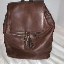 Coach Vintage Brown Leather Large Backpack/daypack A30-9827  Photo