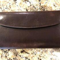 Coach Vintage Brown Leather Wallet Clutch  Photo