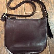 Coach Vintage Collectable 9953 Brown Leather Large Bucket Shoulder Handbag Photo