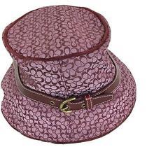 Coach Vintage Deco Style Signature Fedora Hat Size P/s Photo