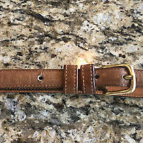 Coach Vintage Glove Tanned Tan Leather Skinny Belt Womens 28 Photo