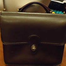 Coach Vintage Handbag Dark Brown Leather Cross Body Messenger Bag C6l - 9927 Photo