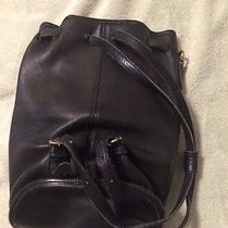 Coach Vintage Leather Backpack 9992 Black Photo