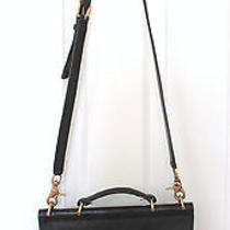 Coach Vintage Leather Crossbody Black Purse Gold  Photo