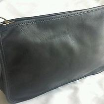 Coach Vintage Leather Crossbody Handbag Black Euc Photo