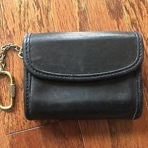 Coach Vintage Leather Key Chain Coin Case Photo