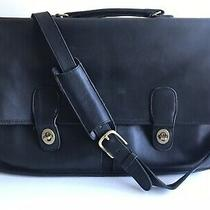 Coach Vintage Messenger Bag Mens Soft Black Leather From 1970s Good Condition Photo