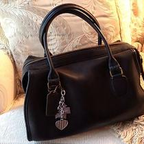 Coach Vintage Navy Handbag Satchel/1970's/ Very Good Condition Photo