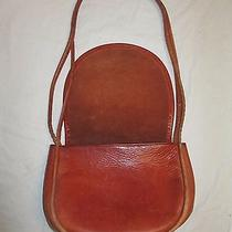 Coach Vintage Orange Leather Handbag Purse Photo
