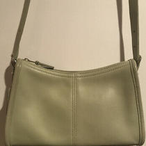 Coach Vintage Pale Mint Green Leather Crossbody Bag & Leather Wallet Photo
