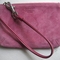 Coach Vintage Pink Suede Wristlet Photo
