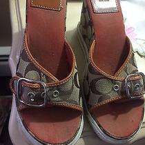 Coach Vintage Rare S/8 Wedges With Sneaker Sole Photo