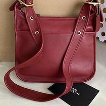 Coach Vintage Red Leather Legacy Shoulder Bag 9966 Euc Photo