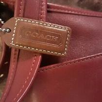 Coach Vintage Retro Legacy Red Leather Hobo Crossbody Shoulder Bag Photo