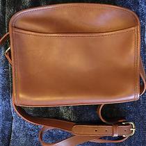 Coach Vintage Shoulder/cross Body Handbag/purse British Tan Leather Zippered Top Photo