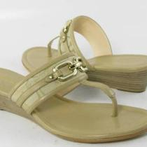 Coach Virginia Sandals  Light Khaki Womens Size 8 M New 138 Photo
