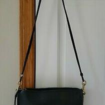 Coach Vtg 70s Black Leather Clutch/shoulder Bag Purserare Photo