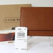 Coach Wallet New Tan Leather Clutch Trifold  Compact Original Box Brown 4899 Photo