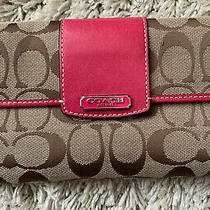 Coach Wallet Pink/brown Snap Photo