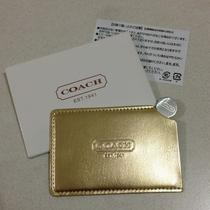 Coach Wallet Size Mirror in Gold (From Japan) Photo