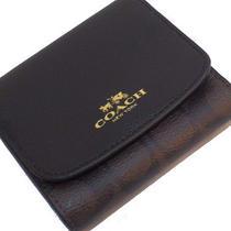 Coach Walletwomen Wallet Black Signiturewith Gift box&bagf53837 Photo