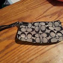 Coach Wallet Wristlet  Black and Tan Logo Photo