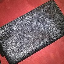 Coach Wallet/wristlet. Carried Only 1 Time. Great Deal Black Pebble Leather  Photo
