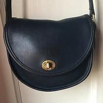 Coach Watson 9981 Turnlock Navy Leather Crossbody Purse  Handbag Photo